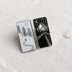 Image of Enamel Pins - Snow and Night