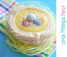 lemon meringue nest - a great way to get my favorite pie without having to make a big one. Must try this!