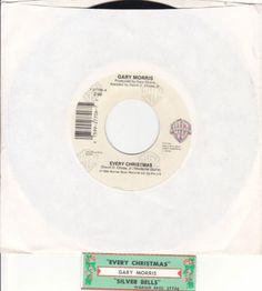 "Gary Morris / Every Christmas / Silver Bells / 7"" Jukebox Vinyl 45 Record / NM"