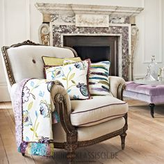 Prestigious Textiles have been designing beautiful interior fabrics and wallpapers for over 30 years. Choose from the UK's widest range of upholstery, cushion and curtain fabrics. Prestigious Textiles, Rich Home, Modern Prints, Living Room Kitchen, Wingback Chair, Soft Furnishings, Samba, Textile Design, Bunt