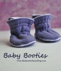 Baby Booties •Fabric, elastic, sewing machine, basic sewing supplies, pattern (included) •Tutorial