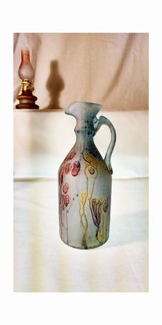 The Groom Pitcher Vase | Palestinian Blown Glass| Hand Painted | Decorative Glass | House Warming gift |Romantic Wedding Imaginary Gift | by MysticLandPainted on Etsy