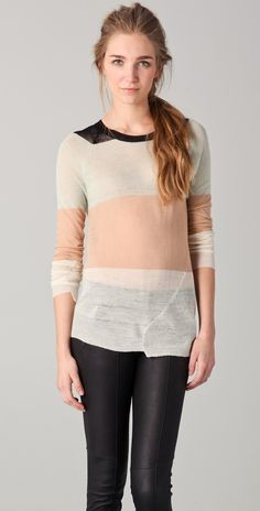 A.l.c. Cole Rugby Striped Sweater thestylecure.com