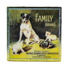 This Handmade Coaster -  is made with Family Brand a  Vintage Citrus Crate Label -   I love this design because Dogs truly are our family!!!    Handmade Recycled Tile Coaster $14.99