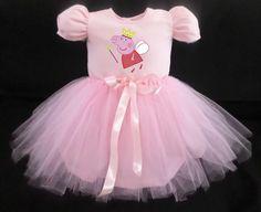 Vestido Infantil Peppa Pig Festa