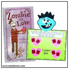 Students read Zombie in Love and complete a fun division activity using Zombie brains!