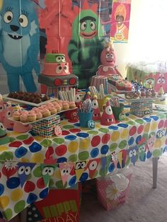 "Photo 2 of 6: Yo Gabba Gabba and Rainbow Colors / Birthday ""My kids birthday party"" 