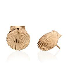 CBStark Jewelers - Chilmark Scallop Shell earrings in 14k gold, $450.00 (http://www.cbstark.com/jewelry/chilmark-scallop-shell-earrings-in-14k-gold/)