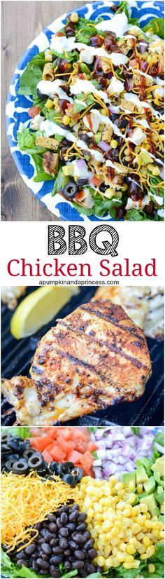 BBQ Ranch Chicken Salad - quick, easy, low-carb weeknight meal.