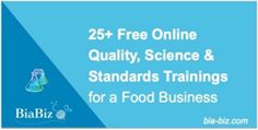 Links to Quality, Science & Standards Training & Resources for a food Business including: 25+ Free Online Trainings to support design, definition and management of a comprehensive quality system. Food And Beverage Industry, Science Standards, Training Courses, Free Food, A Food, Management, Business, Design