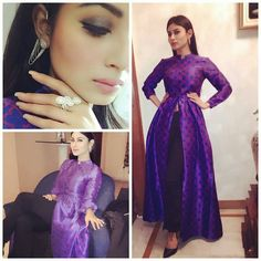 """""""Mouni Roy in an Ash Haute Couture outfit for an event in Delhi @INSTABOLLYWOOD . . Outfit ~ @ashhautecouture Jewellery ~ @anishavarma .…"""""""