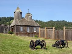 Fort Ross, historic Russian fort north of San Francisco, California, USA