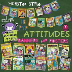 A great FUN way to reinforce positive attitudes in any classroom! Coordinates with the IB PYP attitudes! Ib Attitudes, Learner Profile, Elementary Art, Positive Attitude, Classroom Decor, Art Projects, Learning, Teacher Stuff, Creative