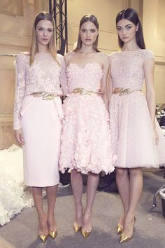 Zuhair Murad: Couture Spring 2014, I like the middle as bridesmaid idea
