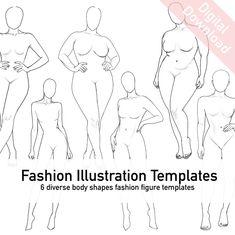 Fashion Illustration Poses, Fashion Illustration Template, Fashion Sketch Template, Fashion Figure Templates, Fashion Model Drawing, Fashion Design Drawings, Fashion Sketches, Body Base Drawing, Cute Eyes Drawing