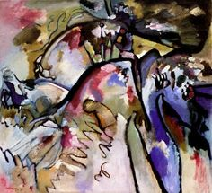 Painter Wassily Kandinsky. Painting. Improvisation 21a. 1911 year