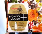 dead stock ironing cover. new in package. fall flowers. autumn decor. by StrapTite