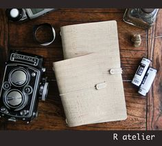 $29 or $33 | Midori Traveler's Notebook | Leather Journal Cover | Standard Size Starter Kit #midoritravelersnotebook #leatherjournal