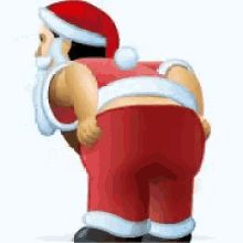 Santa Merry Almost Christmas GIF - Santa MerryAlmostChristmas Butt - Discover & Share GIFs