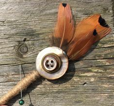 Customisable Boutonniere / Corsage / Buttonhole - Rustic Boho Copper Rose Gold Button Feather - Country Wedding - Day at the Races - Groom Quirky Wedding, Wedding Matches, Rustic Wedding, Wedding Day, Feather Boutonniere, Groom Boutonniere, Boutonnieres, Copper Rose, Copper Color