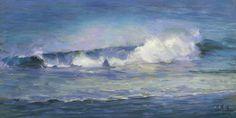 Beach Wave Art. Ocean Waves. Ocean Painting. by WingedCanvas