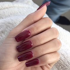 Wine Red acrylic nails
