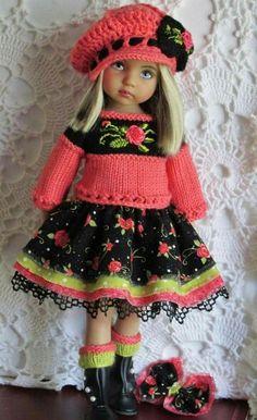 Bambola Knitting Dolls Clothes, Ag Doll Clothes, Crochet Doll Clothes, Knitted Dolls, Doll Clothes Patterns, Crochet Dolls, Little Doll, New Dolls, Cute Dolls