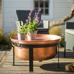 Copper Table Fire Pit in Outdoor Living Fire Pits at Terrain Fire Pit Ring, Diy Fire Pit, Fire Pit Backyard, Outdoor Fire, Outdoor Tables, Outdoor Living, Outdoor Spaces, Copper Fire Pit, Fire Pit Gallery