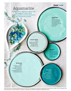 38 Ideas for bath room paint schemes better homes and gardens Blue Paint Colors, Paint Colors For Home, House Colors, Beachy Colors, Coastal Colors, Garden Painting, House Painting, Paint Schemes, Colour Schemes