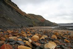 Kettleness is a Sand & rock beach located near Whitby in Yorkshire. Robin Hoods Bay, Uk Beaches, North East England, Yorkshire Dales, Coastal Cottage, Tweed, Shells, Fox, Places