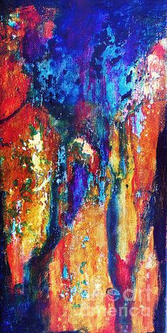 Rustic, western abstract art by Karen Chatham
