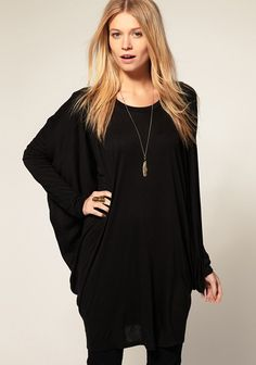 Love! Love! Love! Want! Want! Want! Black Round Neck Bat Sleeve Spandex T-Shirt #Trends