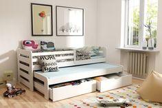 Vyvýšená posteľ s prístelkou a úložným priestorom