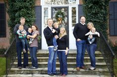 TIP: For a big family photo - group people into their smaller family units to add interest and levels to the shot.