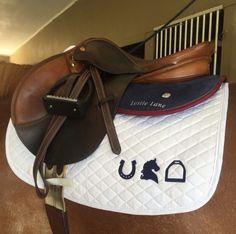 Horse lifestyle saddle pad & monogrammed ogilvy