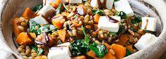 salatka z dynia, kasza peczak i feta