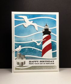 SC600 Lighthouse Birthday by beesmom - Cards and Paper Crafts at Splitcoaststampers