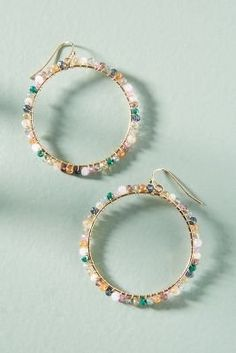 Shop the Sophie Hoop Earrings and more at Anthropologie today.