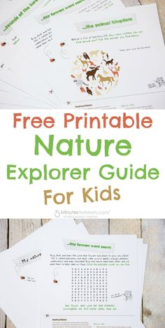 Free Printable Nature Explorer Guide For Kids - Print out these activity sheets and take your kids out for a nature walk. Sponsored.