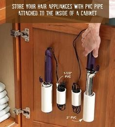 Easy way to store hair appliances