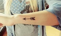 40 Cool Arrow Tattoo Designs | http://www.barneyfrank.net/40-cool-arrow-tattoo-designs/