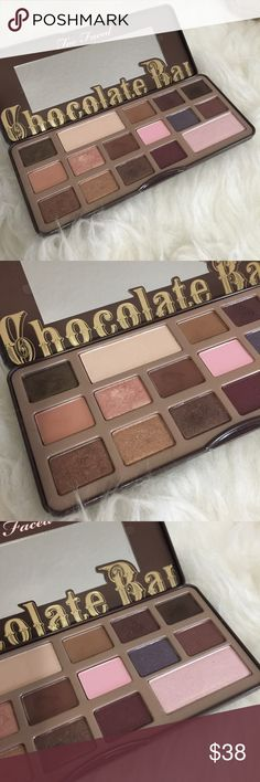 Too faced Chocolate Bar shadow palette Only used some colors (browns) Do NOT ask me about the authenticity. Its 100% authentic purchased from Sephora. Too Faced Makeup Eyeshadow