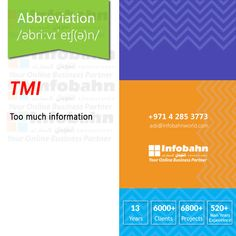 TMI – Too much information  #infobahnconsultancy #infobahn #ibc #seo #searchengineoptimization #digitalmarketing #godigital #digitalmarketingspecialist #onlinemarketing #socialmediaexperts #socialmedia #socialmediamarketing #website #websitecompany #webdesign #itcompany