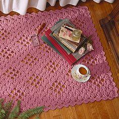 Leisure Arts - Crocheted Lacy Diamonds Rug & Runner pattern $2.99