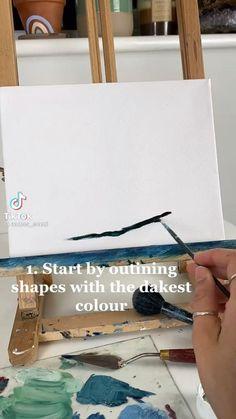 Arte Sketchbook, Art Drawings Sketches Simple, Diy Canvas Art, Acrylic Art, Art Tutorials, Amazing Art, Watercolor Art, Art Projects, Doodles
