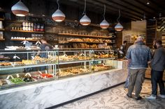 Sud Forno is the still new, Terroni bakery that opened this summer just a few doors down from the original Southern Italian eatery on West Queen West. Italian Deli, Italian Bakery, Best Bakery, Bakery Cafe, Pastry And Bakery, Pastry Shop, Pizza Store, Pasta Restaurants, Bakery Interior
