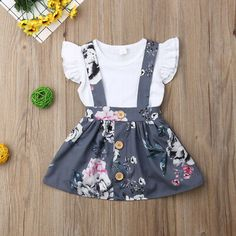 US Toddler Kids Baby Girl Tops T Shirt Overall Skirt Suspender Dress Outfit Set - Holiday Dresses Outfit - Ideas of Holiday Dresses Outfit - US Toddler Kids Baby Girl Tops T Shirt Overall Skirt Suspender Dress Outfit Set Price : Baby Outfits, Girls Summer Outfits, Dresses Kids Girl, Little Girl Outfits, Toddler Outfits, Dress Outfits, Kids Outfits, Cute Baby Dresses, Baby Girl Skirts