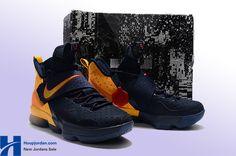 "finest selection ac078 30b02 Cheap Nike LeBron 14 ""Cavs Alternate"" PE Navy Yellow"