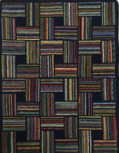 geometric, sort-of-log-cabin-like, scrap-busting, rug hooking or locker hooking possibility