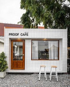 Making your mornings a little brighter ? Making your mornings a little brighter ? Click The Link For See Cafe Shop Design, Small Cafe Design, Cafe Interior Design, Coffee Shop Aesthetic, Cafe Japan, Mini Cafe, Cafe Exterior, Small Coffee Shop, Nail Design Spring
